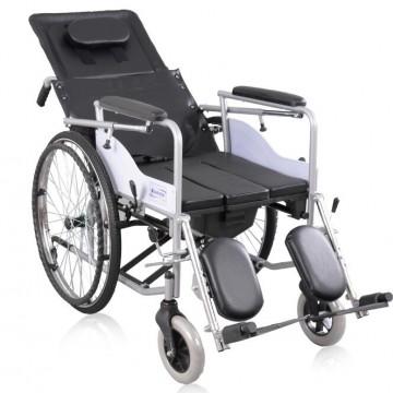 互邦轮椅车可折叠老人轮椅残疾车(带座便)轻便携多功能