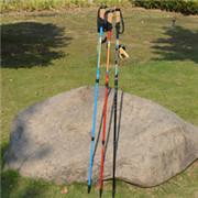 三节直柄碳纤维健走杖
