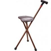 铝合金手杖老人拐杖带座椅智能拐杖带灯