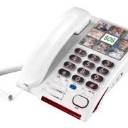 大字键相片一键呼救助听电话机
