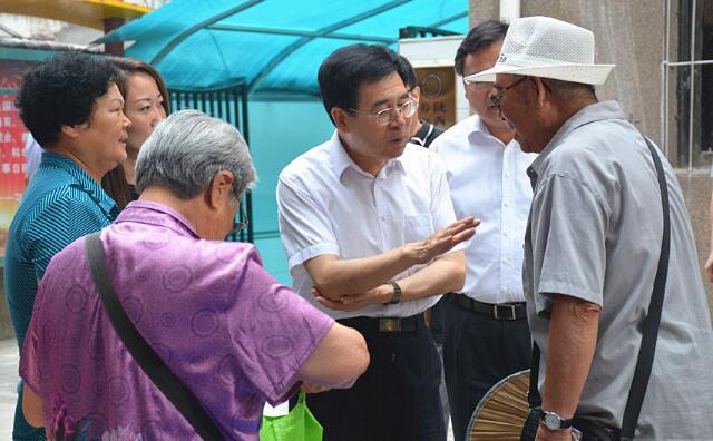 省民政厅领导来新城镇调研居家养老服务工作