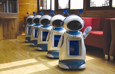 """提醒服药 定时巡房 杭州养老院迎来机器人""""保姆"""""""