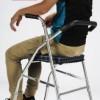 老年人走路助行器扶椅轮步行器坐康复架代步车助力拐棍不锈钢行走