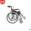 天津喷涂软座钢管加厚实心胎网布软座手动轮椅车可座便老年人代步